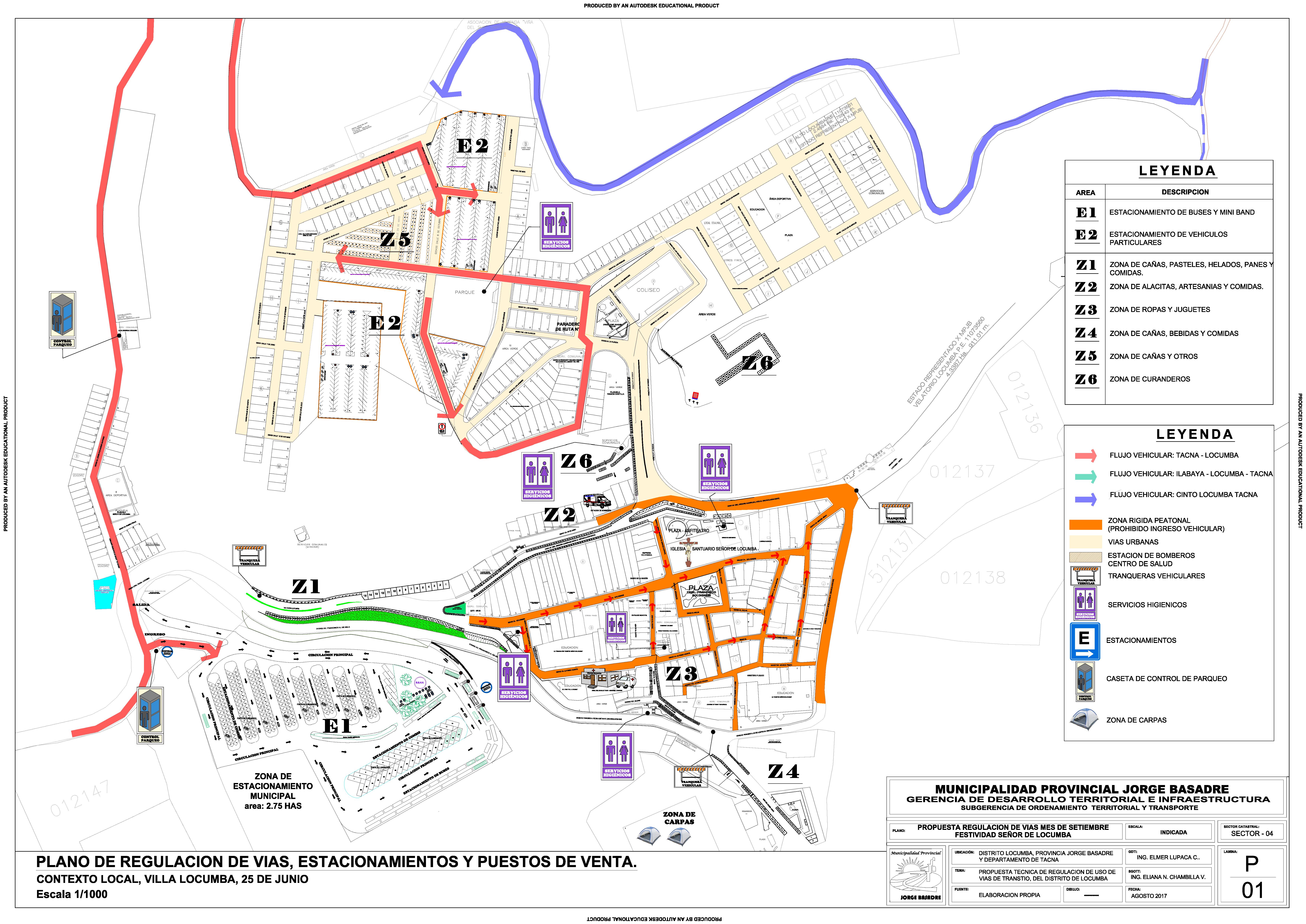 planos de uso vial